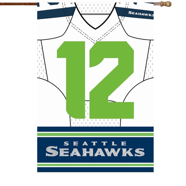 """Seattle Seahawks 29"""" x 43"""" Double-Sided Jersey Foil House Flag"""