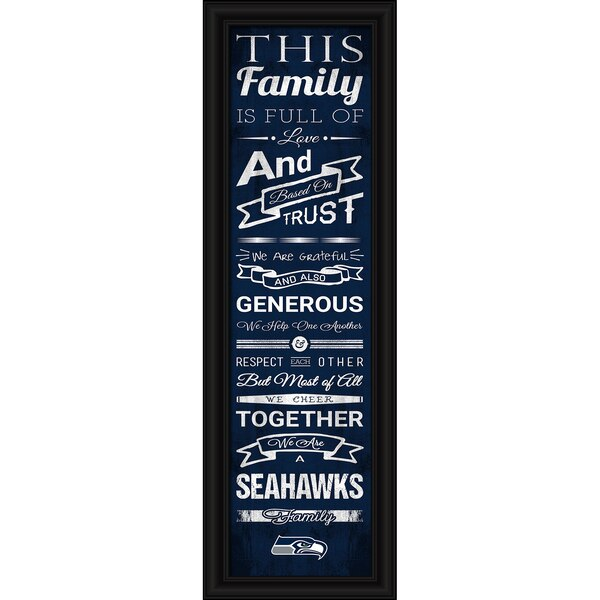 Seattle Seahawks Crackle Family Cheer Framed Art