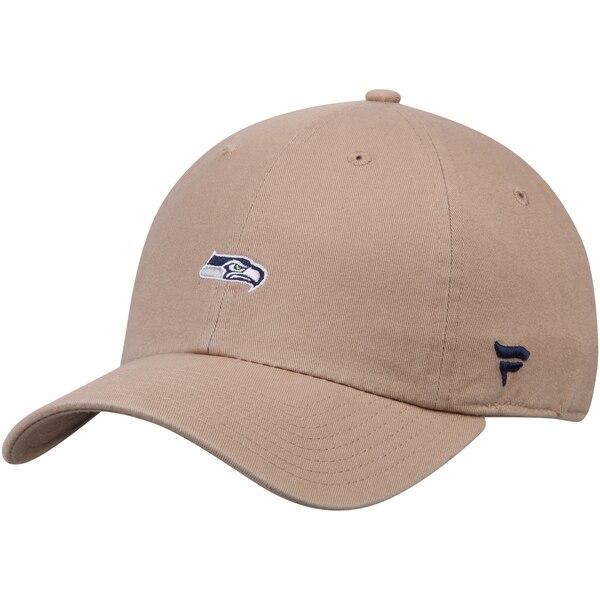 Seattle Seahawks NFL Pro Line by Fanatics Branded Adjustable Dad Hat - Khaki