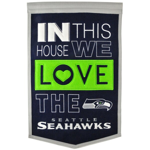 Seattle Seahawks 15'' x 24'' Home Banner