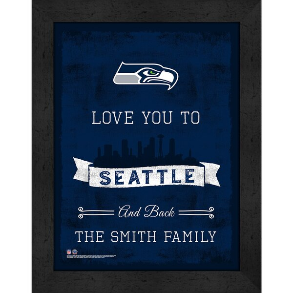 Seattle Seahawks Personalized Love to and Back Frame