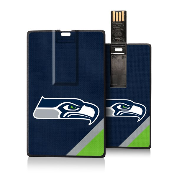 Seattle Seahawks Diagonal Stripe Credit Card USB Drive