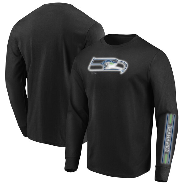 Seattle Seahawks Majestic Big & Tall Startling Success Long Sleeve T-Shirt - Black
