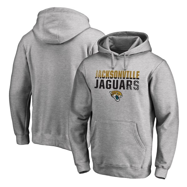 1cbaf703 Jacksonville Jaguars NFL Pro Line by Fanatics Branded Iconic Collection  Fade Out Pullover Hoodie - Ash