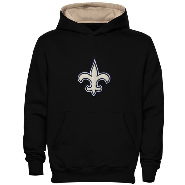 on sale e7def 9e00a New Orleans Saints Preschool Fan Gear Primary Logo Pullover Hoodie - Black