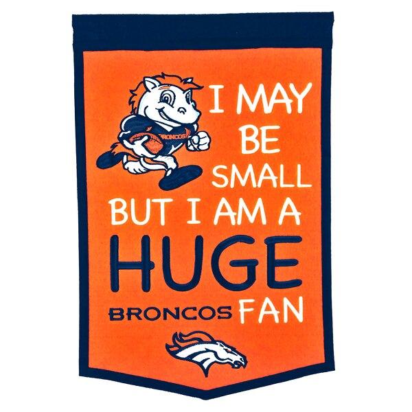 "Denver Broncos 12"" x 18"" Lil Fan Traditions Banner"