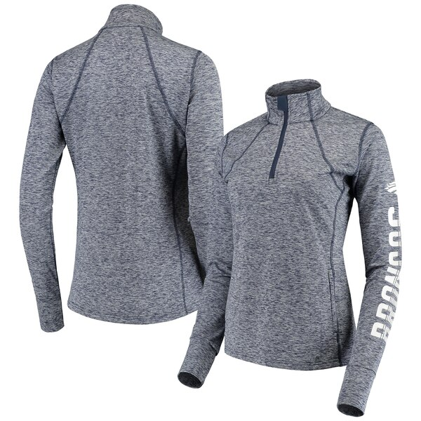 Denver Broncos G-III 4Her by Carl Banks Women's Class Pass Quarter-Zip Pullover Jacket - Navy