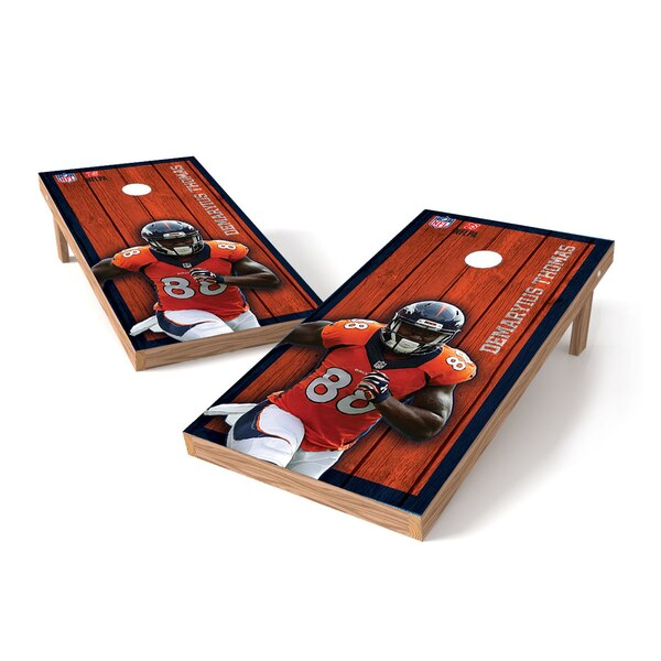Demaryius Thomas Denver Broncos 2' x 3' Player Vintage Authentic Tailgate Toss Set -