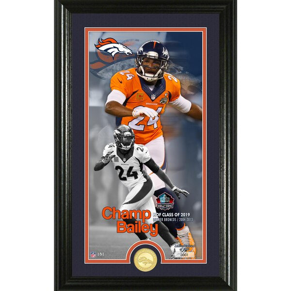 Champ Bailey Denver Broncos Highland Mint 2019 Pro Football Hall of Fame 12'' x 20'' Supreme Bronze Coin Photo Mint