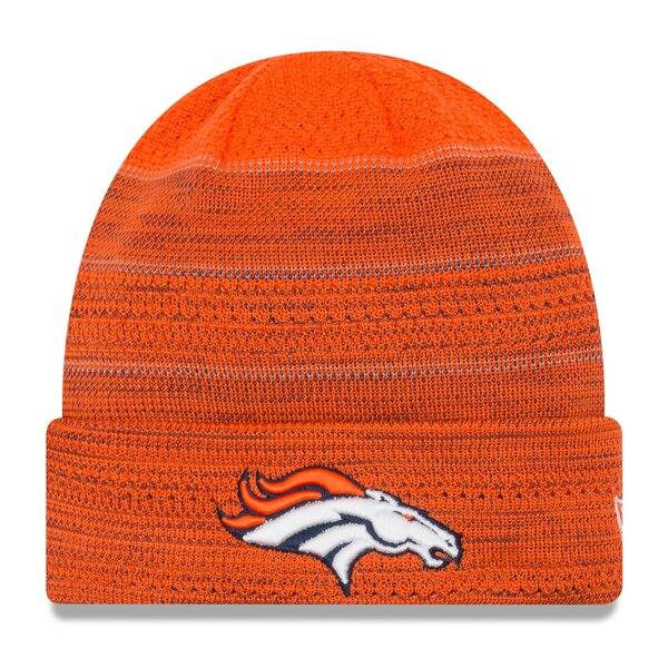 Denver Broncos New Era Youth 2017 Sideline Official TD Knit Hat - Orange