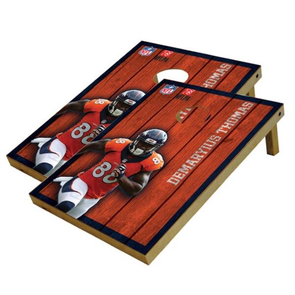 Demaryius Thomas Denver Broncos 2' x 3' Player Vintage Authentic Tailgate Toss Set