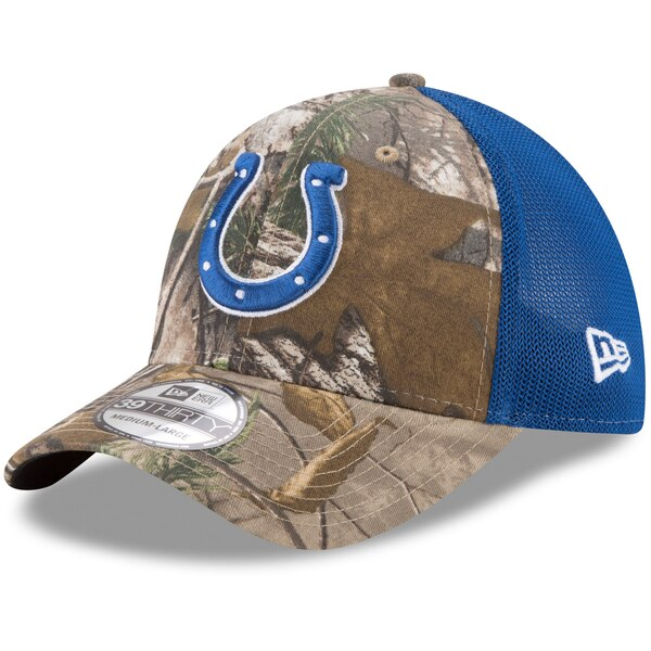 Indianapolis Colts New Era Trucker 39THIRTY Flex Hat - Realtree Camo/Royal
