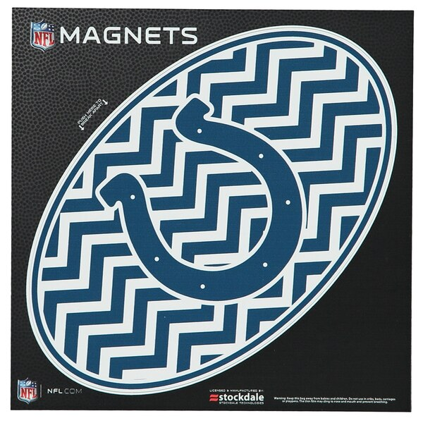 "Indianapolis Colts Chevron 6"" x 6"" Oval Full Color Magnet"