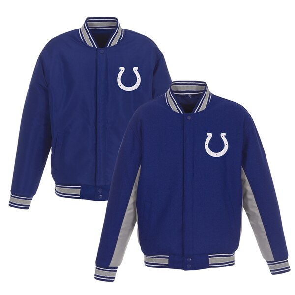 Indianapolis Colts JH Design Wool Reversible Full-Snap Jacket - Royal