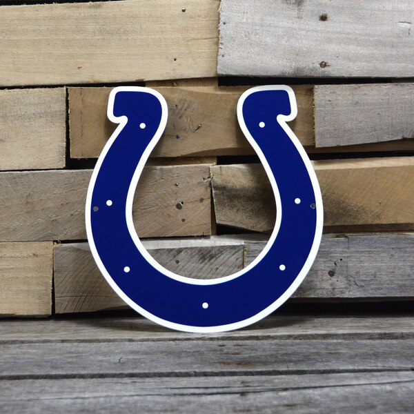 "Indianapolis Colts 12"" Steel Logo - Blue"
