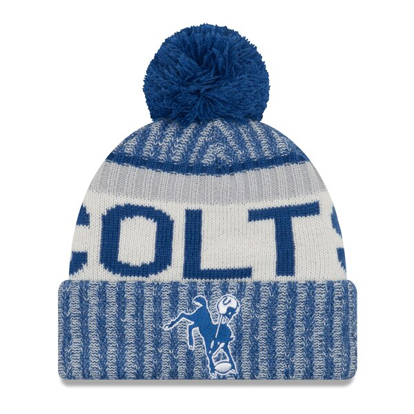 Indianapolis Colts New Era Youth 2017 Sideline Historic Sport Knit Hat - Royal