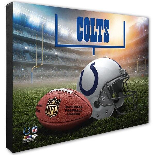 "Indianapolis Colts 16"" x 20"" Helmet & Stadium Canvas"
