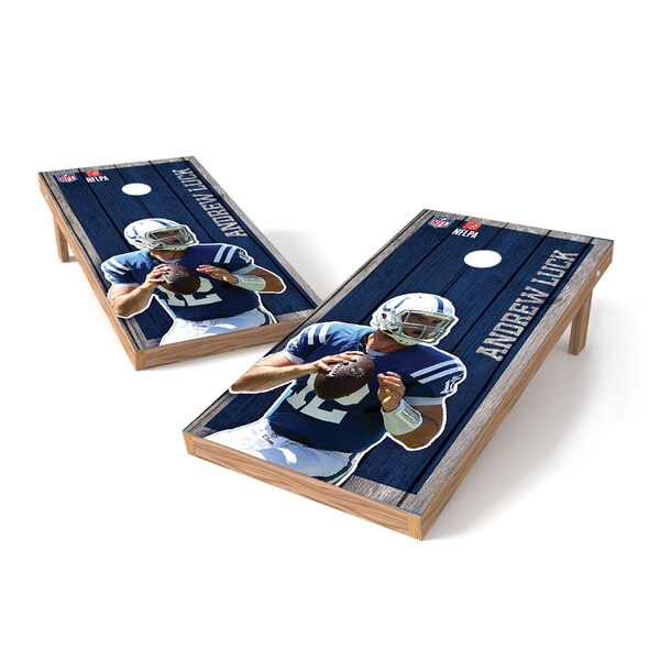 Andrew Luck Indianapolis Colts 2' x 3' Player Vintage Authentic Tailgate Toss Set -