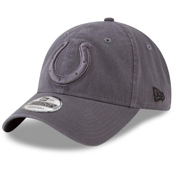Indianapolis Colts New Era Core Classic Tonal 9TWENTY Adjustable Hat - Graphite