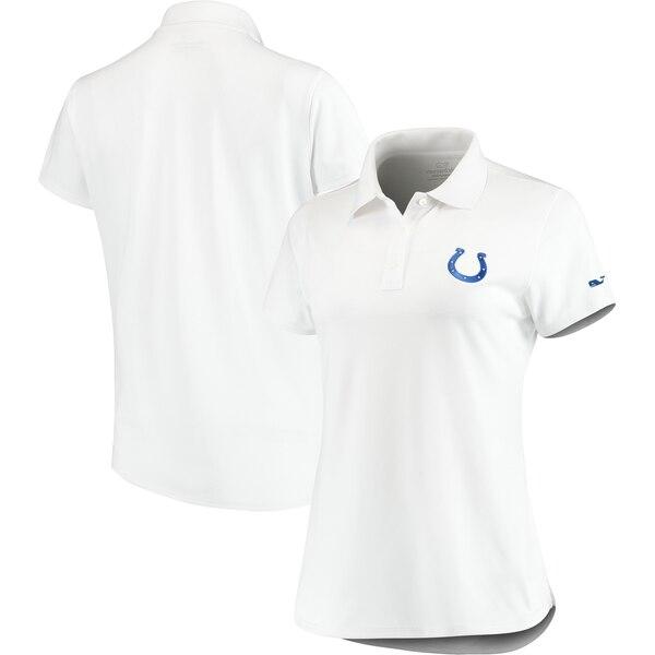Indianapolis Colts Vineyard Vines Women's Pique Sport Performance Polo - White