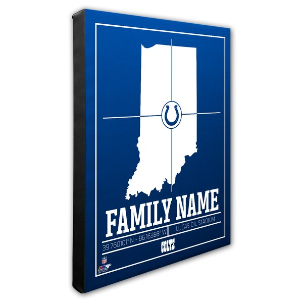 """Indianapolis Colts 16"""" x 20"""" Personalized Stadium Canvas"""