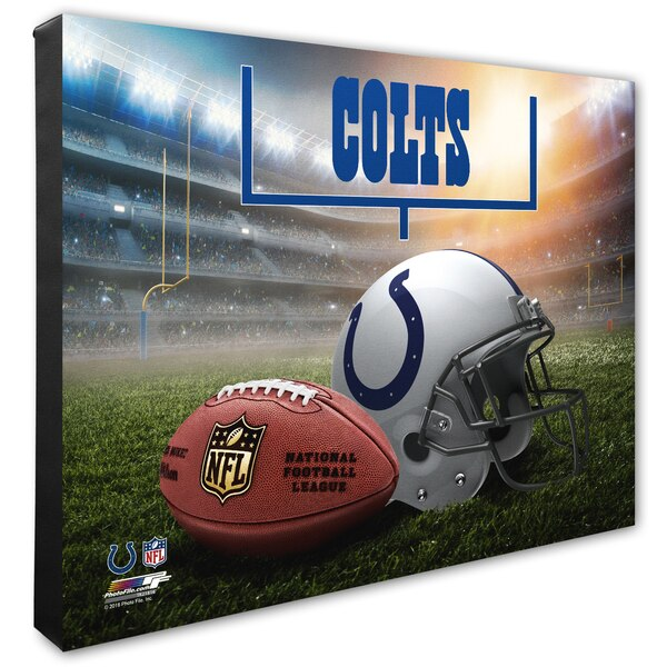 "Indianapolis Colts 20"" x 24"" Helmet & Stadium Canvas"
