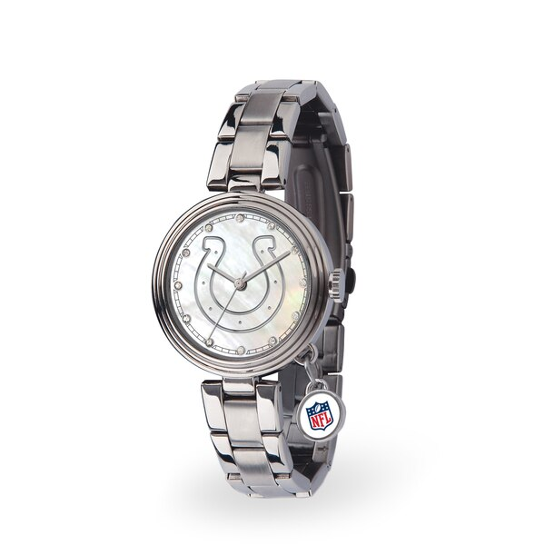 Indianapolis Colts Women's Charm Stainless Steel Watch