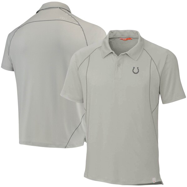 Indianapolis Colts CBUK by Cutter & Buck Grip Raglan Polo - Gray