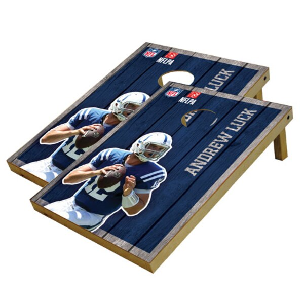 Andrew Luck Indianapolis Colts 2' x 3' Player Vintage Authentic Tailgate Toss Set