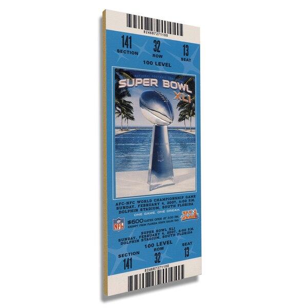Indianapolis Colts Super Bowl XLI Commemorative Mini-Mega Ticket