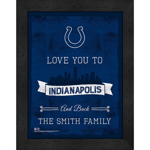 Indianapolis Colts Personalized Love to and Back Frame