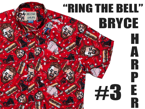 """Bryce Harper """"Ring the Bell"""" Button Up Shirt"""