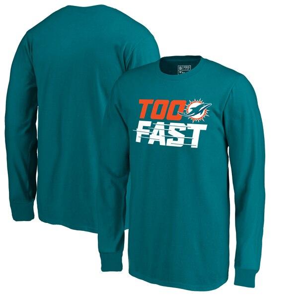 Miami Dolphins Fanatics Branded Youth Too Fast Long Sleeve T-Shirt - Aqua