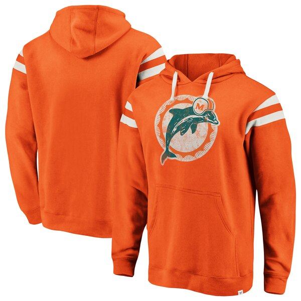 5d5dcbf5 Miami Dolphins Majestic Hyper Stack Full-Zip Hoodie - Heathered ...