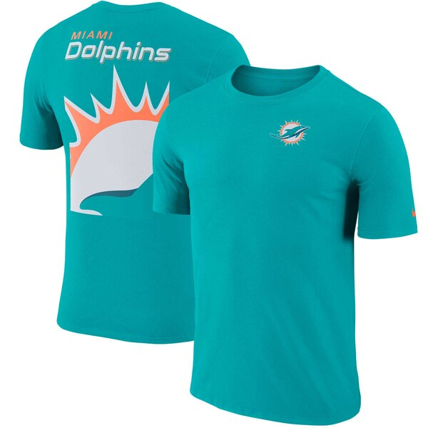 Miami Dolphins Nike Performance Crew Champ T-Shirt - Aqua