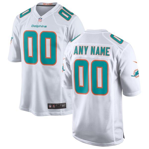 Miami Dolphins Nike 2018 Custom Game Jersey - White
