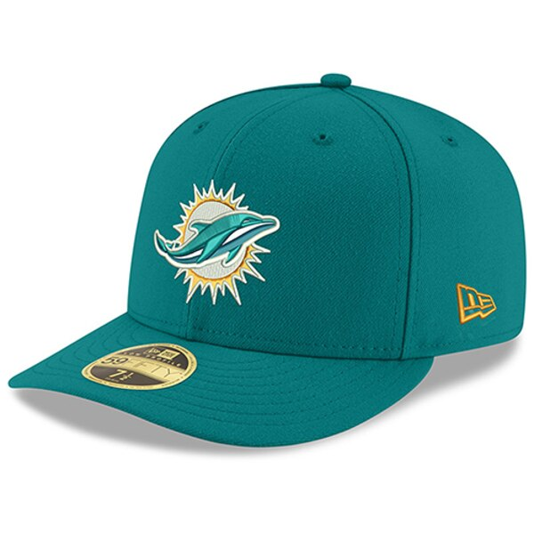 Miami Dolphins New Era Omaha Low Profile 59FIFTY Structured Hat - Aqua