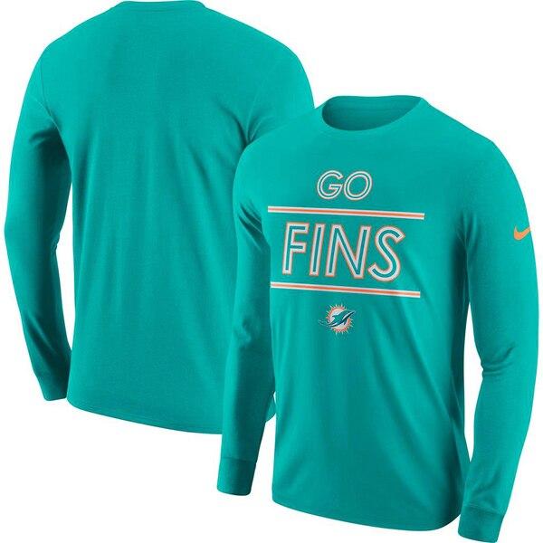Miami Dolphins Nike Sideline Local Lockup Performance Long Sleeve T-Shirt - Aqua