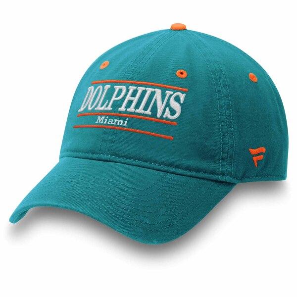 Miami Dolphins NFL Pro Line by Fanatics Branded Primary Bar Adjustable Hat - Aqua