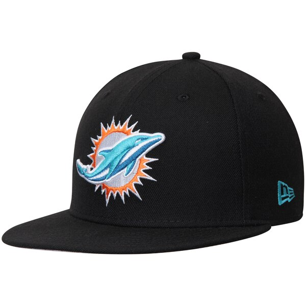 Miami Dolphins New Era Omaha 59FIFTY Fitted Hat - Black