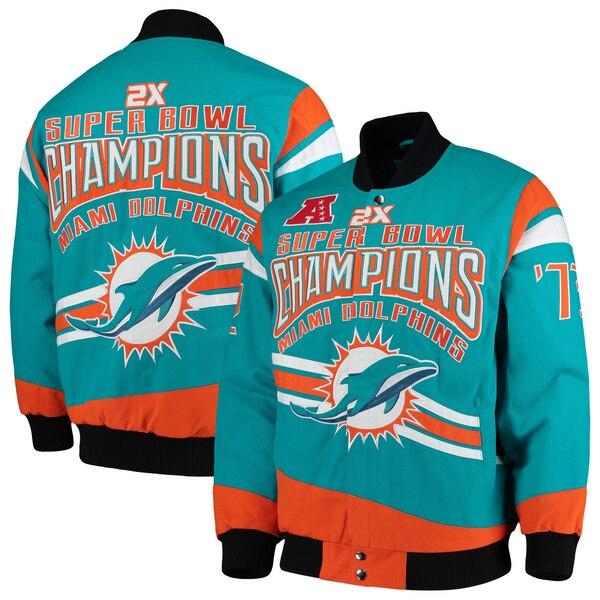 Miami Dolphins G-III Extreme Gladiator Commemorative Cotton Twill Jacket - Aqua