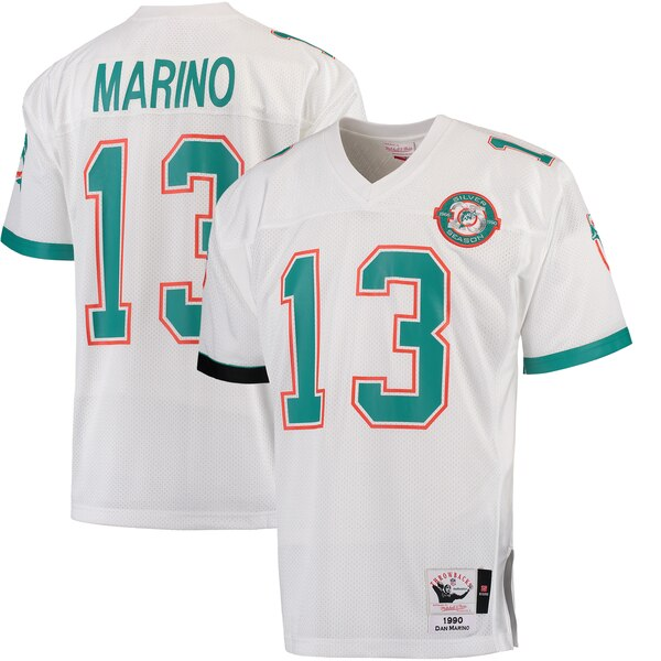 Dan Marino Miami Dolphins Mitchell & Ness 1990 Authentic Throwback Jersey - White