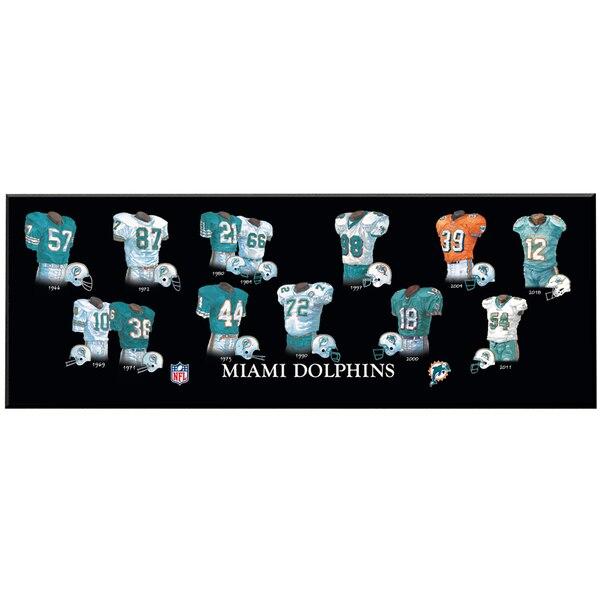 Miami Dolphins 8'' x 24'' Uniform Evolution Plaque