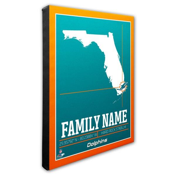 "Miami Dolphins 16"" x 20"" Personalized Stadium Canvas"