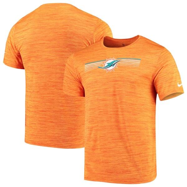 Miami Dolphins Nike Sideline Velocity Performance T-Shirt - Heathered Orange