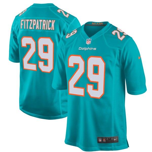Minkah Fitzpatrick Miami Dolphins Nike Game Jersey - Aqua