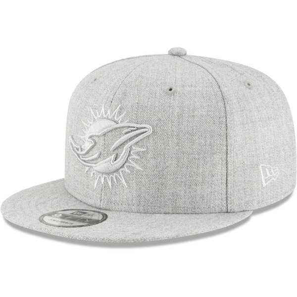 Miami Dolphins New Era Twisted Frame 9FIFTY Adjustable Snapback Hat - Gray