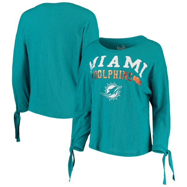 Miami Dolphins Touch by Alyssa Milano Women's On The Fly Long Sleeve T-Shirt - Aqua