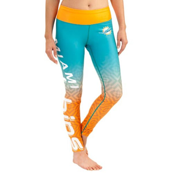 Miami Dolphins Klew Women's Gradient Leggings - Orange