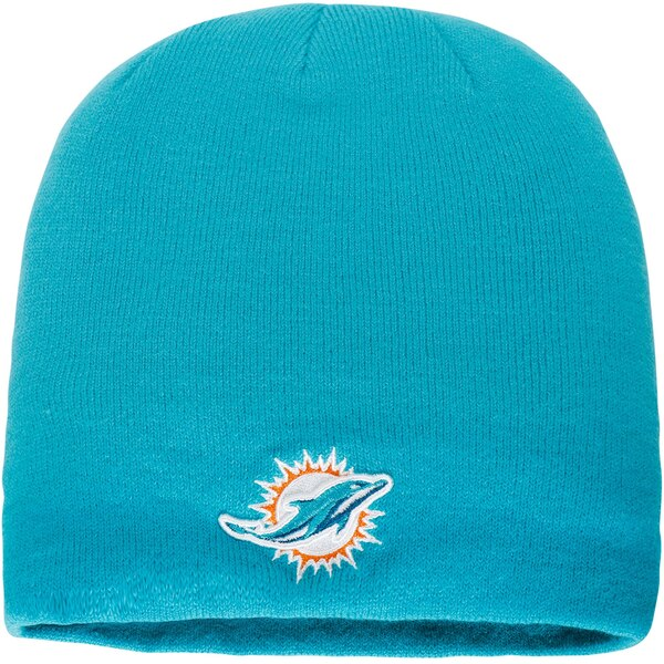 Miami Dolphins NFL Pro Line by Fanatics Branded Core Uncuffed Knit Beanie -  Aqua